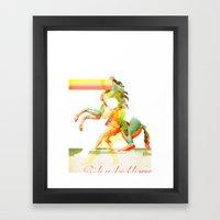 Ride A Dead Horse Framed Art Print