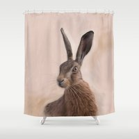 Eostre - The Hare Goddess  Shower Curtain