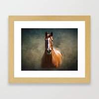 Misty In The Moonlight Framed Art Print