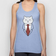 Business Cat Unisex Tank Top