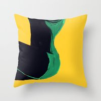 Swimmer #3 Throw Pillow