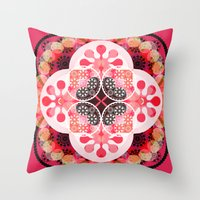 Pink illusion Throw Pillow