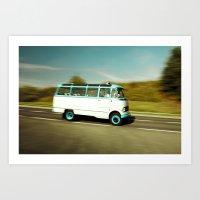 Mercedes Bus Oltimer O 319 Art Print
