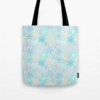 Icy Snowflakes Tote Bag