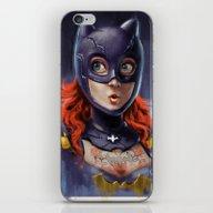 iPhone & iPod Skin featuring Bat Girl  by Sebastian Aburto