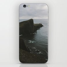 Neist Point Lighthouse at the Atlantic Ocean - Landscape Photography iPhone & iPod Skin