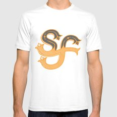 San Francisco SMALL White Mens Fitted Tee