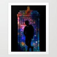Space Tardis 11th Doctor Art Print