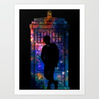 Space Tardis 11th Doctor Art Print