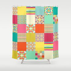 Patchwork Cheater Shower Curtain