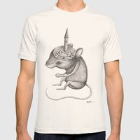 'Lost In My Mind' Mens Fitted Tee Natural SMALL
