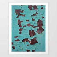 A Peeling Paint Art Print