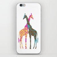 Two Giraffes together iPhone & iPod Skin