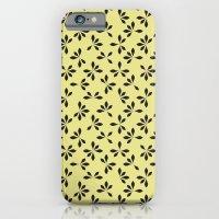 loves me loves me not pattern - banana yellow iPhone 6 Slim Case