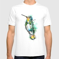 Emerald Hummer Mens Fitted Tee White SMALL