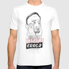 enjoy human error SMALL White Mens Fitted Tee
