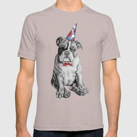 Party Dog Mens Fitted Tee Cinder SMALL