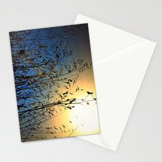 grass at sunset Stationery Cards