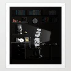 All Nighter Art Print