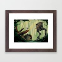 I'm not choosing a side.  Framed Art Print