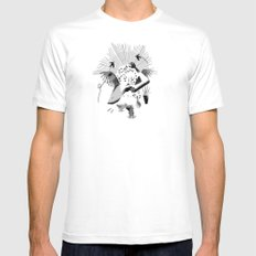 Feeding the birds SMALL Mens Fitted Tee White