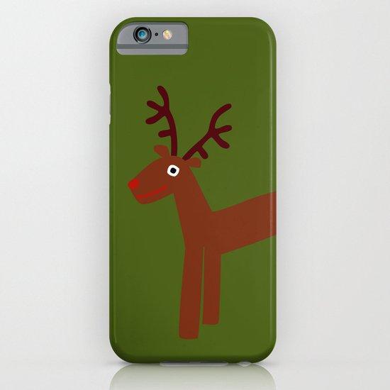 Reindeer-Green iPhone & iPod Case