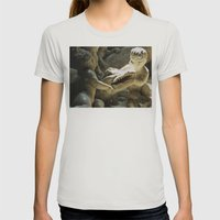 See You Later Alligator Womens Fitted Tee Silver SMALL