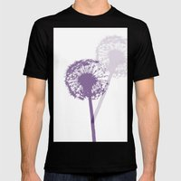 PURPLe Mens Fitted Tee Black SMALL