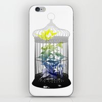 Green Finches iPhone & iPod Skin