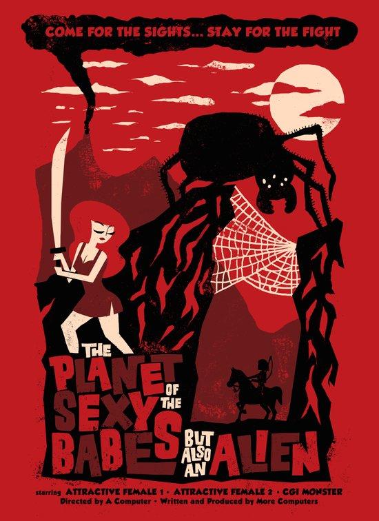 B-Movie Art Print