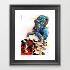 monkey chess Framed Art Print