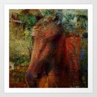 Textured Horse  Art Print
