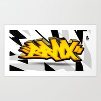 3D GRAFFITI - BRNX Art Print