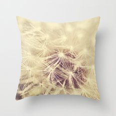 Dandelion Glow Throw Pillow