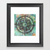 Compass Rose zentangle zendoodle doodle Framed Art Print