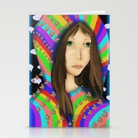 Anime Pop Rainbows Stationery Cards