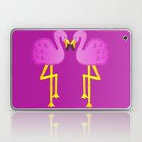 Double Flamingo Love Laptop & iPad Skin