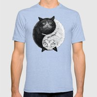 Grumpy Yin Yang Mens Fitted Tee Tri-Blue SMALL