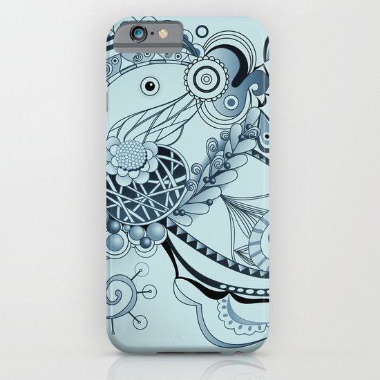 Spring tangle, colony blue iPhone & iPod Case