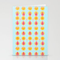 Pineapple & Ice Cream Stationery Cards