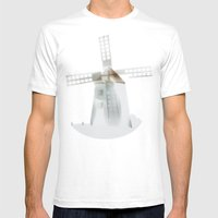 fog, at Butle, Fårö, Gotland, Mens Fitted Tee White SMALL