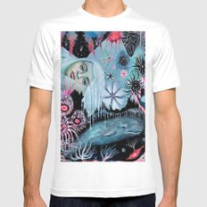 Minkie  White Mens Fitted Tee SMALL