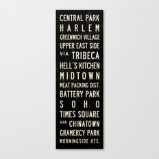 NYC Transit Sign Canvas Print
