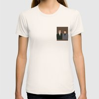 Man, Man Womens Fitted Tee Natural SMALL