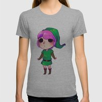 Link to the past Womens Fitted Tee Athletic Grey SMALL