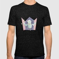 Singing bird Mens Fitted Tee Tri-Black SMALL