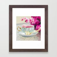 TEA CUP DELIGHT Framed Art Print