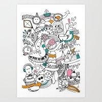 My Happy Doodle Art Print