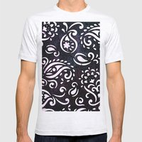 painted paisley Mens Fitted Tee Ash Grey SMALL