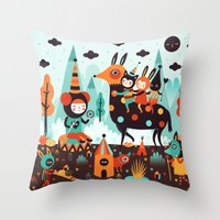 The Spirit Walker Throw Pillow